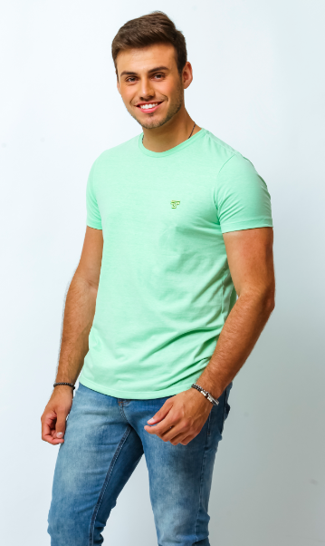 CAMISETA BASIC MESCLA - VERDE - TFLOW