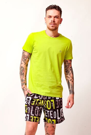 CAMISETA BASIC MESCLA VERDE - TFLOW