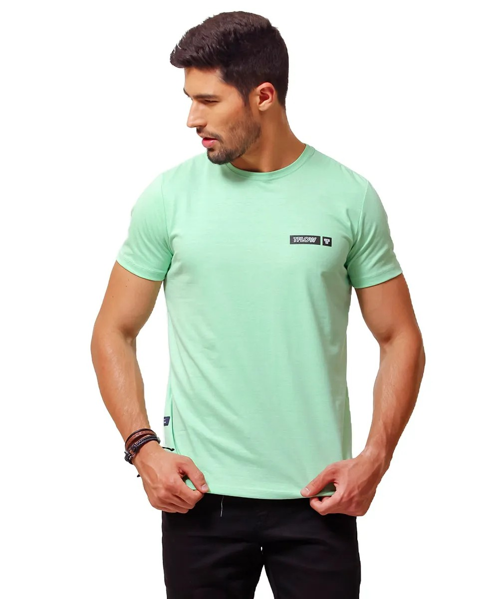 CAMISETA BASIC NEW MOMENT VERDE