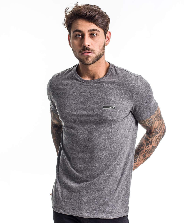 Camiseta Basic 100% Algodão Chumbo - Tflow