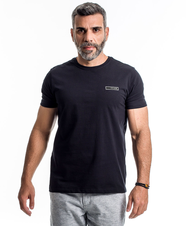 Camiseta Basic 100% Algodão Preta - Tflow