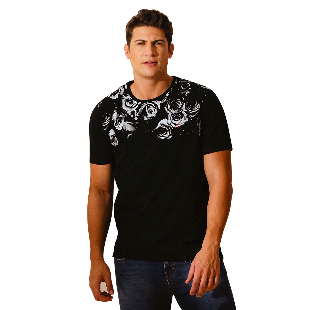 CAMISETA DARK ROSE - TFLOW