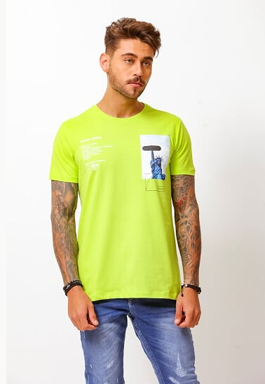 CAMISETA LIBERTY VERDE - TFLOW