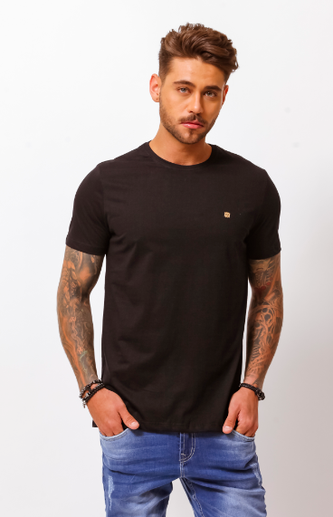 CAMISETA NEW BASIC PRETO - TFLOW