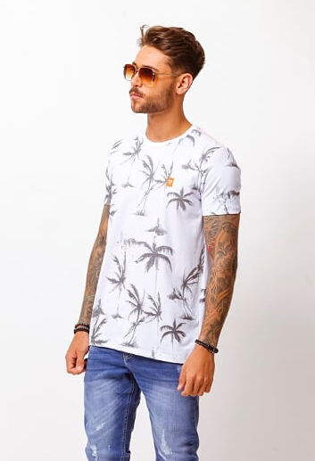 CAMISETA PALM BRANCO - TFLOW