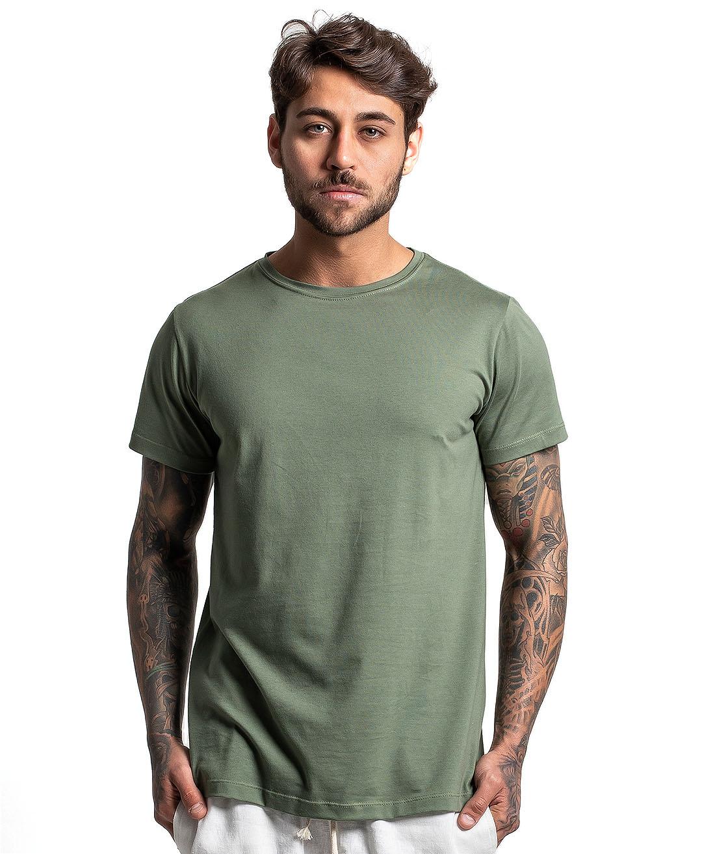 Camiseta Premium Next Edition Algodão PIMA Verde Oliva - Tflow