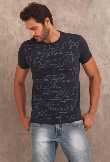 CAMISETA SIGNATURE - MARINHO - TFLOW