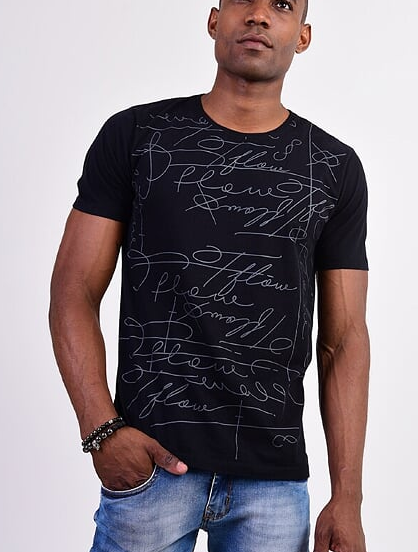 CAMISETA SIGNATURE - PRETO - TFLOW