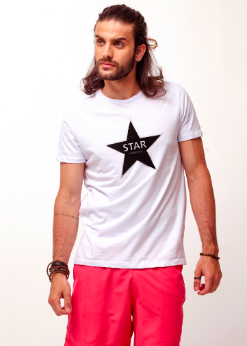 CAMISETA - STAR FAMOUS - BRANCO - TFLOW