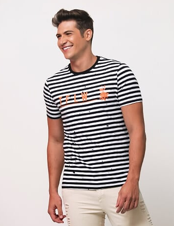CAMISETA STRIPE - TFLOW