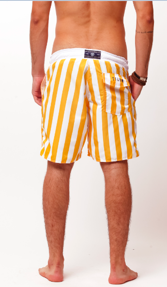 SHORT STRIPES - BRANCO E AMA. - TFLOW