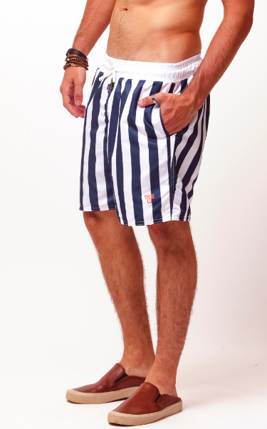 SHORT STRIPES - BRANCO E MAR. - TFLOW