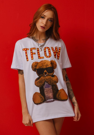 CAMISETA TEDD VODKA - BRANCO - TFLOW