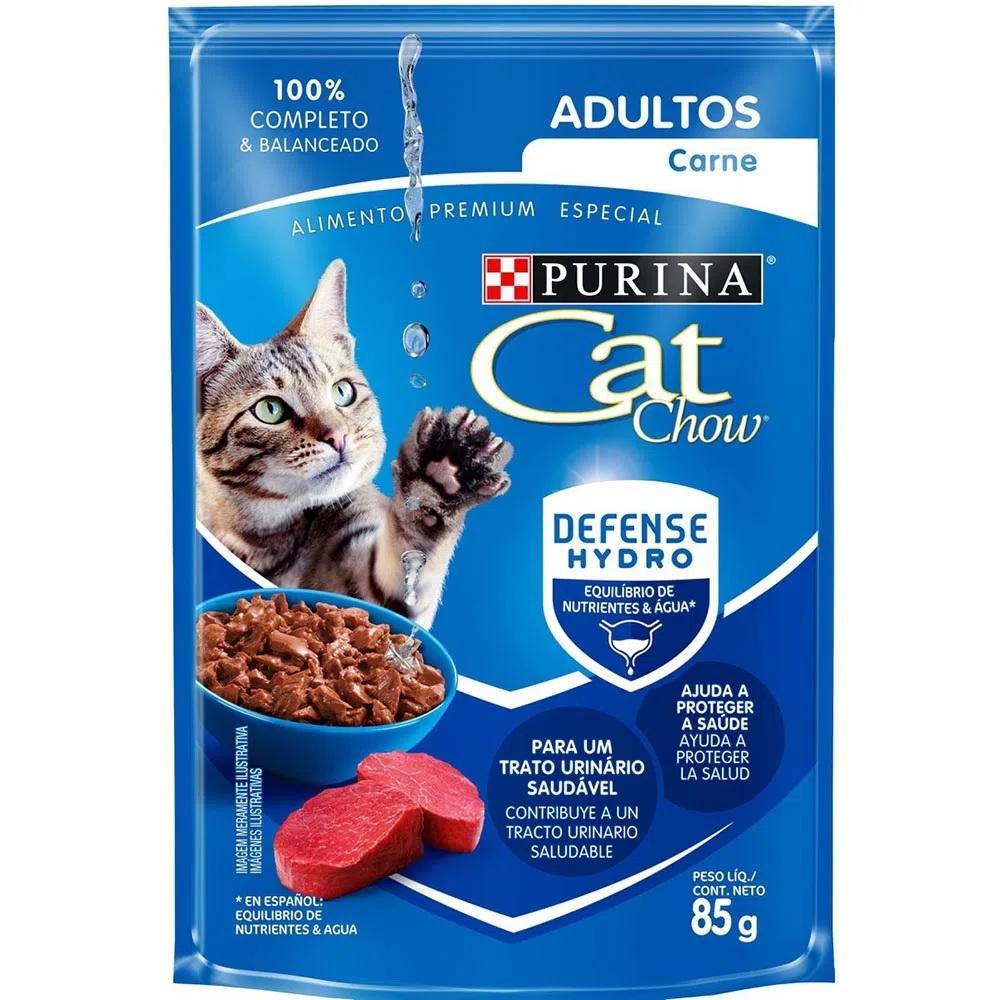 Alimento Úmido Cat Chow Adultos Carne 85g