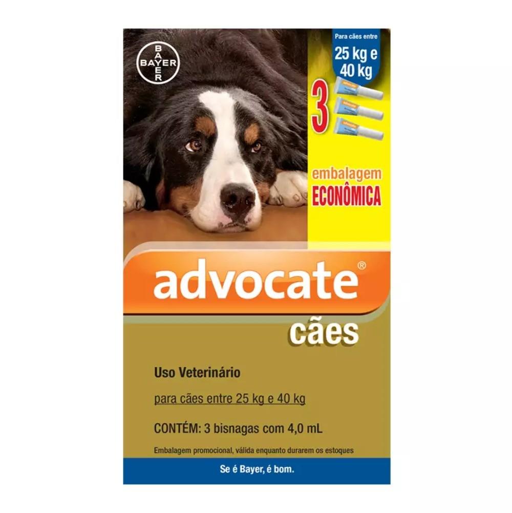 Antipulgas Bayer Advocate para Cães de 25 a 40 Kg - 4,0 mL
