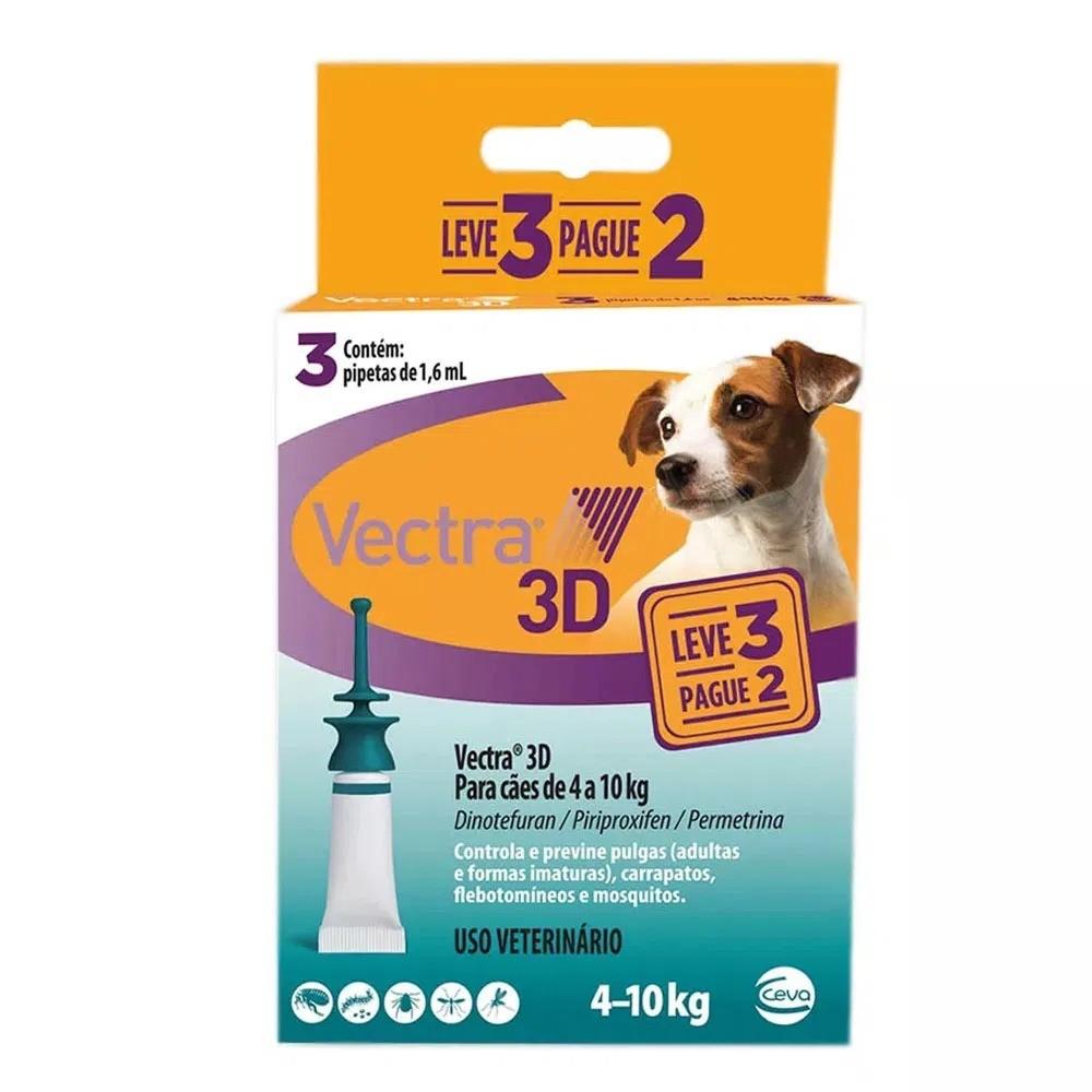Antipulgas e Carrapatos Ceva Vectra 3D Cães de 4 a 10 Kg 1,6 mL