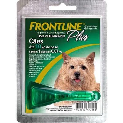 Antipulgas e Carrapatos Frontline Plus para Cães de 1 a 10 Kg