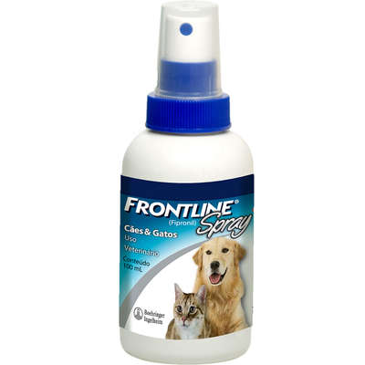 Antipulgas e Carrapatos Frontline Spray 100 mL para Cães e Gatos