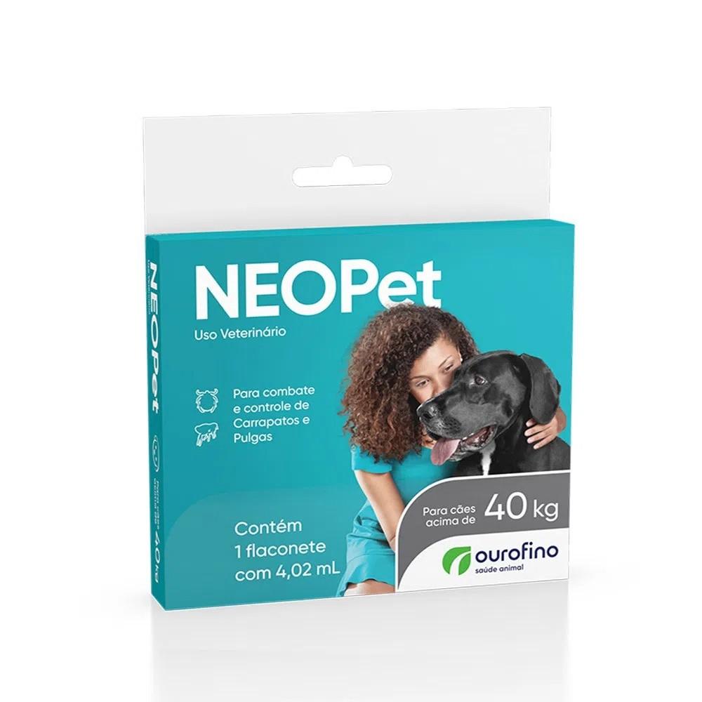 Antipulgas e Carrapatos Ourofino Neopet 2,68 mL para Cães acima de 40 Kg