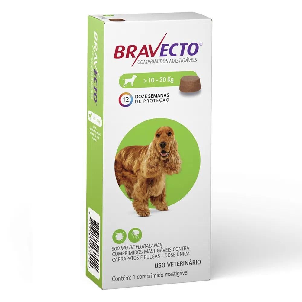 Antipulgas e Carrapatos MSD Bravecto para Cães de 10,1 a 20 Kg