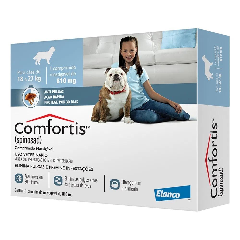 Antipulgas Elanco Comfortis 810 mg para Cães de 18 a 27 Kg