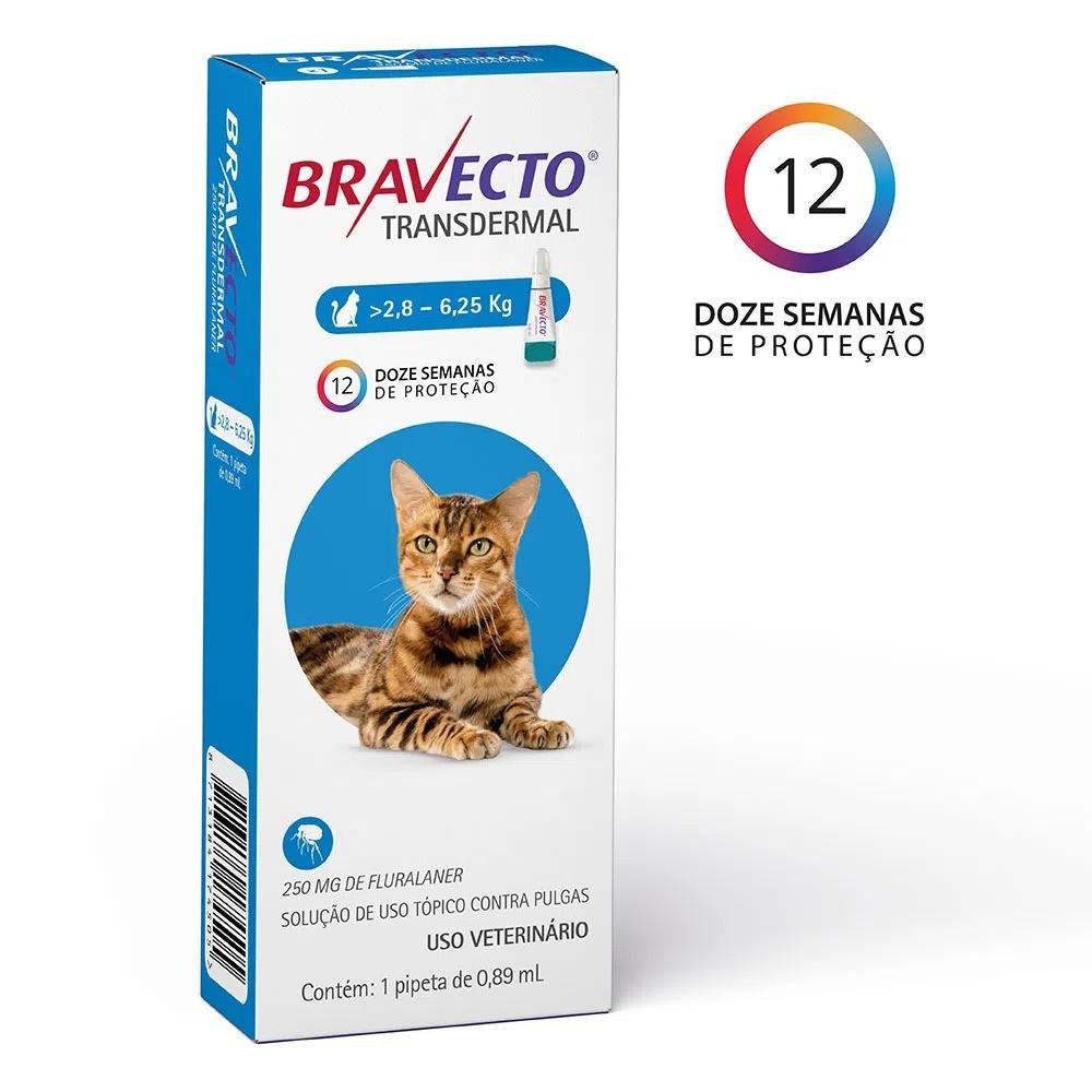 Antipulgas Transdermal para Gatos de 2,9 a 6,25 Kg