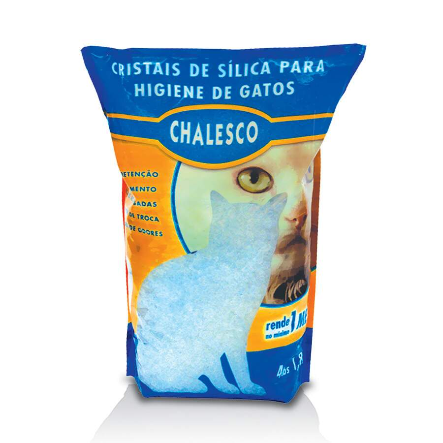 Areia Sanitária Chalesco Cristais de Sílica para Gatos 1,8kg