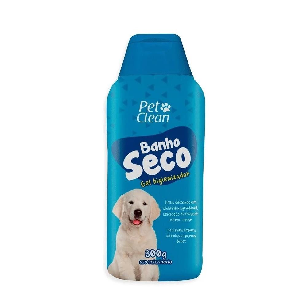 Banho A Seco Gel Higienizador Cães Gatos Pet Clean 300ml