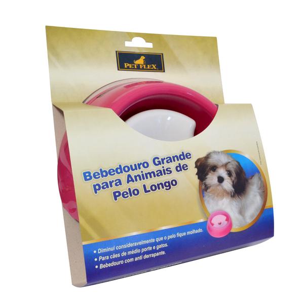 Bebedouro Cachorro e Gato Pelo Longo Pet Flex Tam G