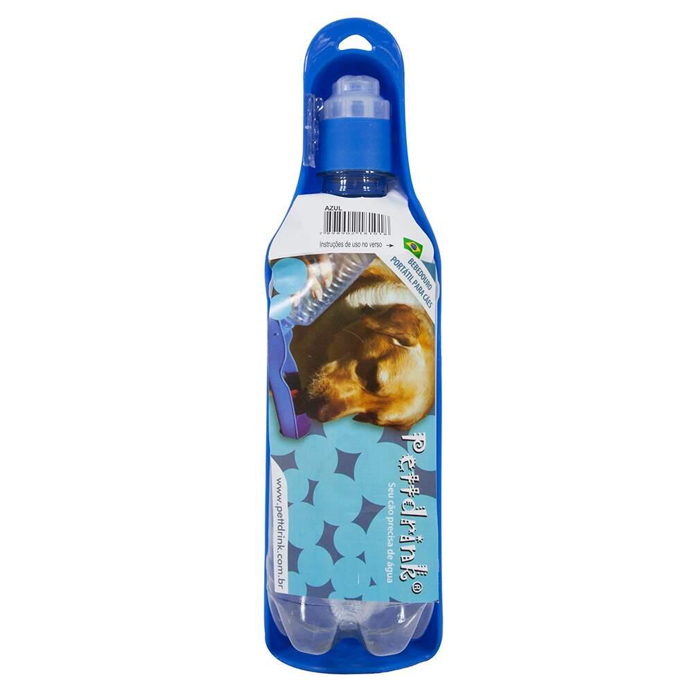Garrafa Portátil para Cães e Gatos Pett Drink Azul