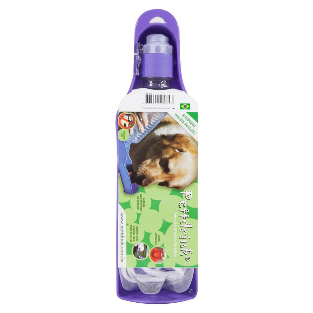 Garrafa Portátil para Cães e Gatos Pett Drink Lilás