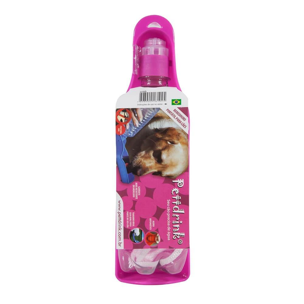 Garrafa Portátil para Cães e Gatos Pett Drink Rosa