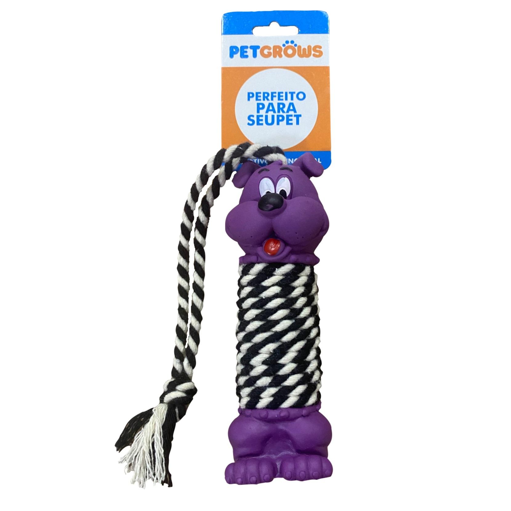 Brinquedo Cachorro Halteres com Corda