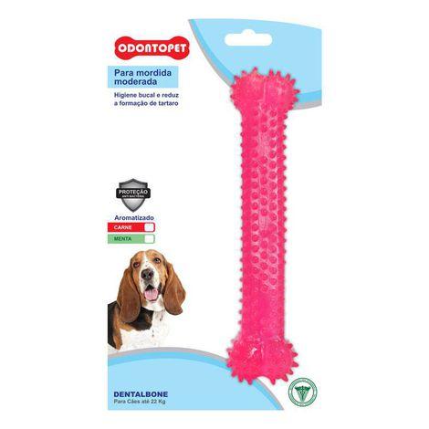 Brinquedo Cachorro Odontopet Dentalbone Osso Sabor Menta para Cães Até 22kg