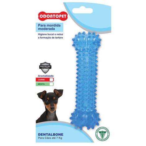 Brinquedo Cachorro Odontopet Dentalbone Osso Sabor Menta para Cães Até 7kg