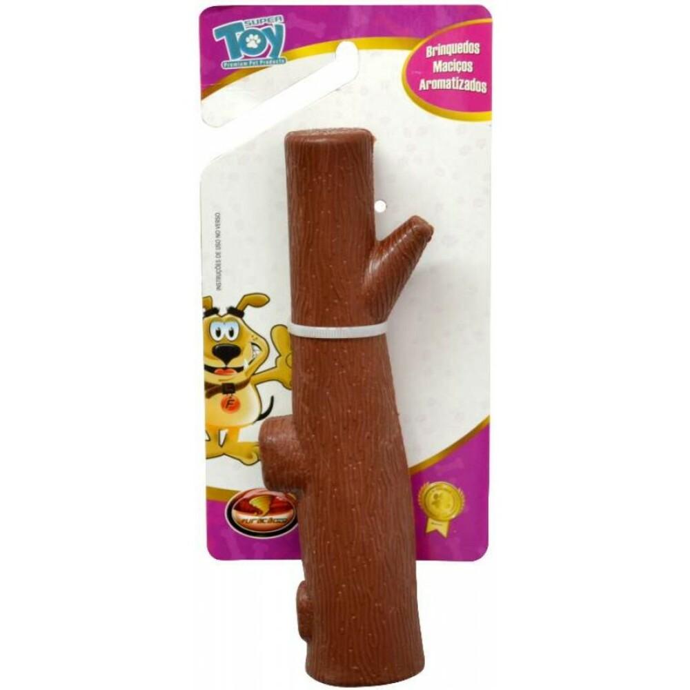 Brinquedo Galho Borracha Macico