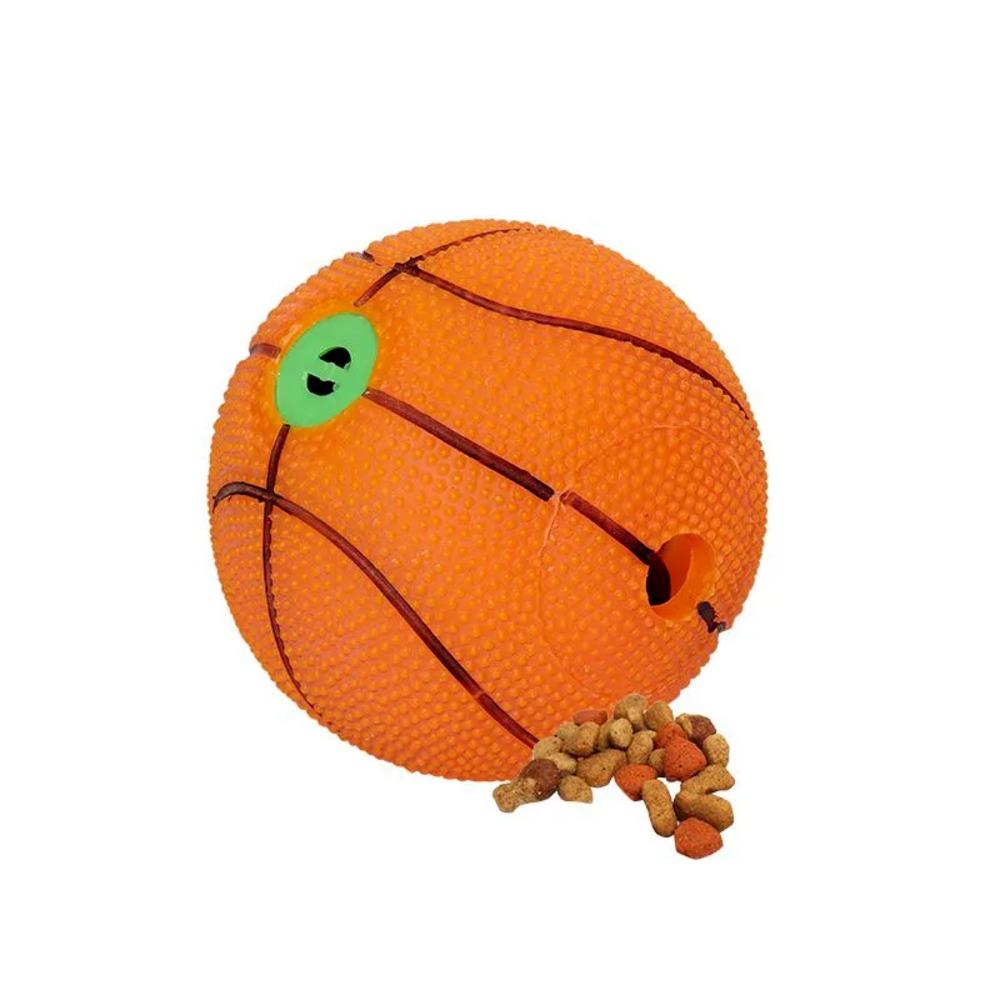 Brinquedo para Cães Bola De Basquete C/ Som 10,5cm