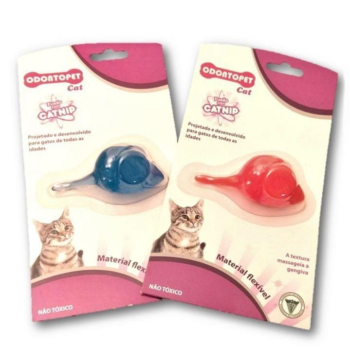 Brinquedo para Gatos Odontopet Cat Mouse Catnip