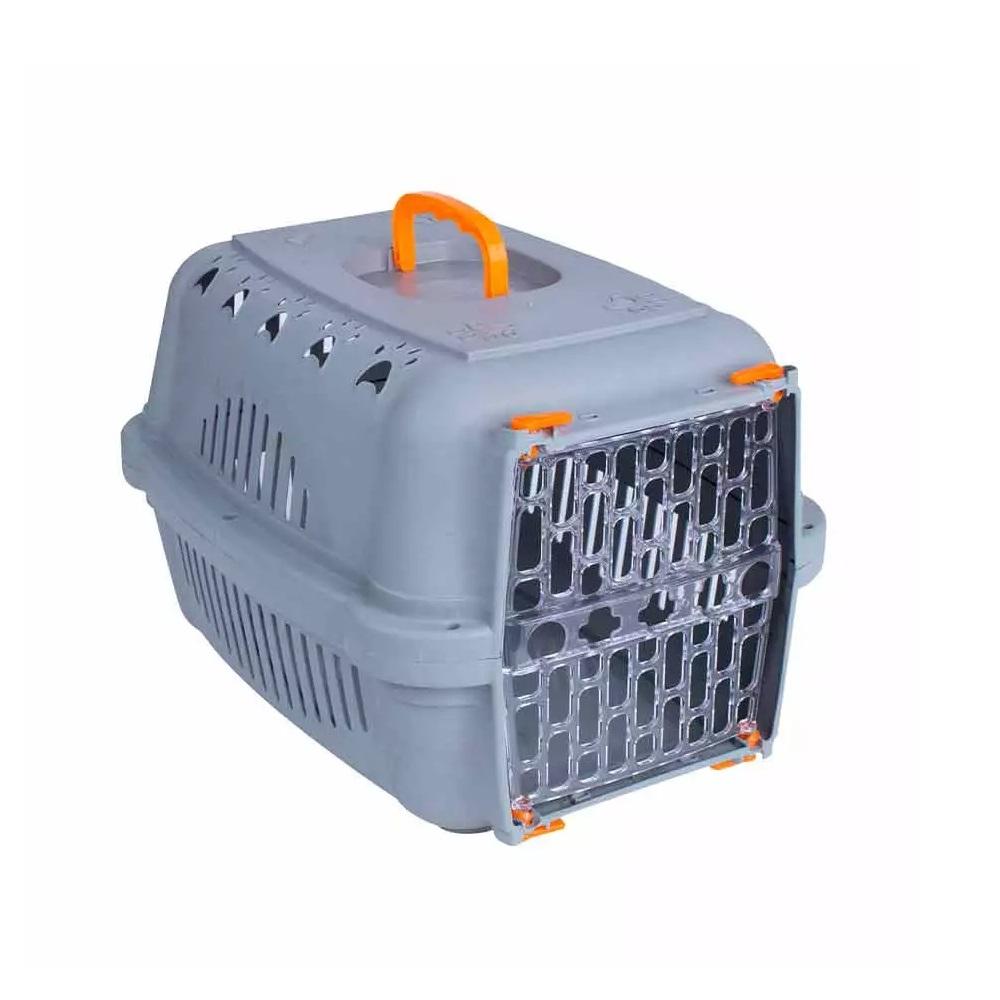 Caixa de Transporte para Cães e Gatos DuraPets Falcon Neon Laranja