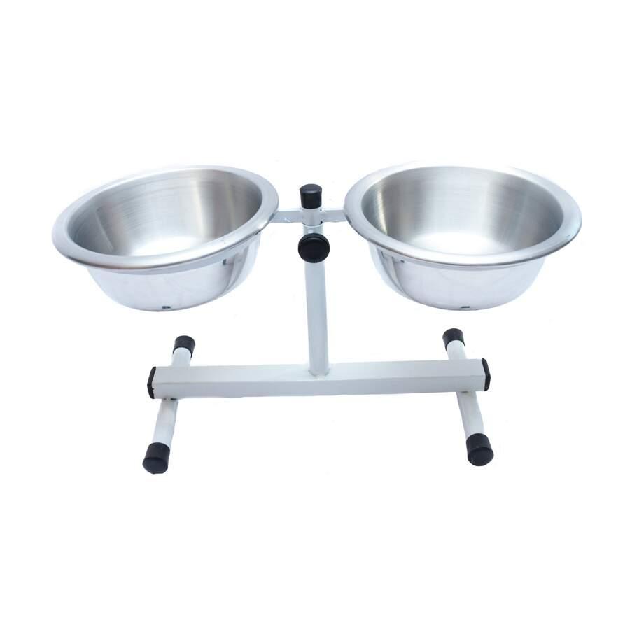 Comedouro e Bebedouro para Cães Regulável P - 900ml