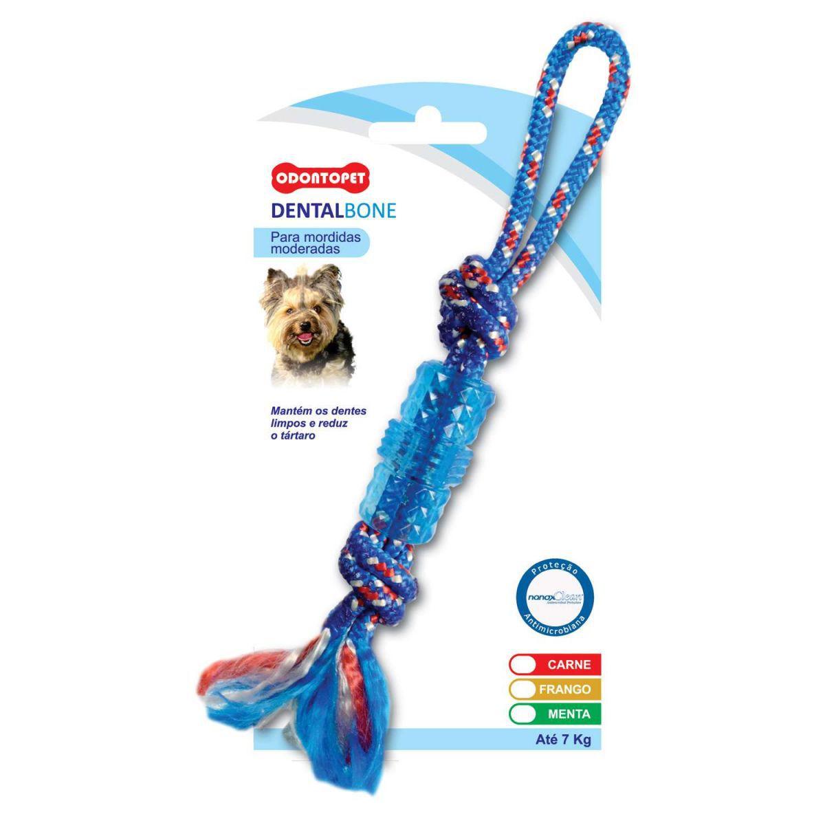 DentalBone Tubo Corda Sabor Menta para Cachorro