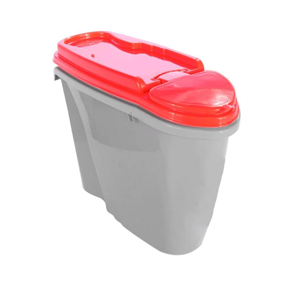 Porta Ração Plast Pet Home Dispenser Vermelho