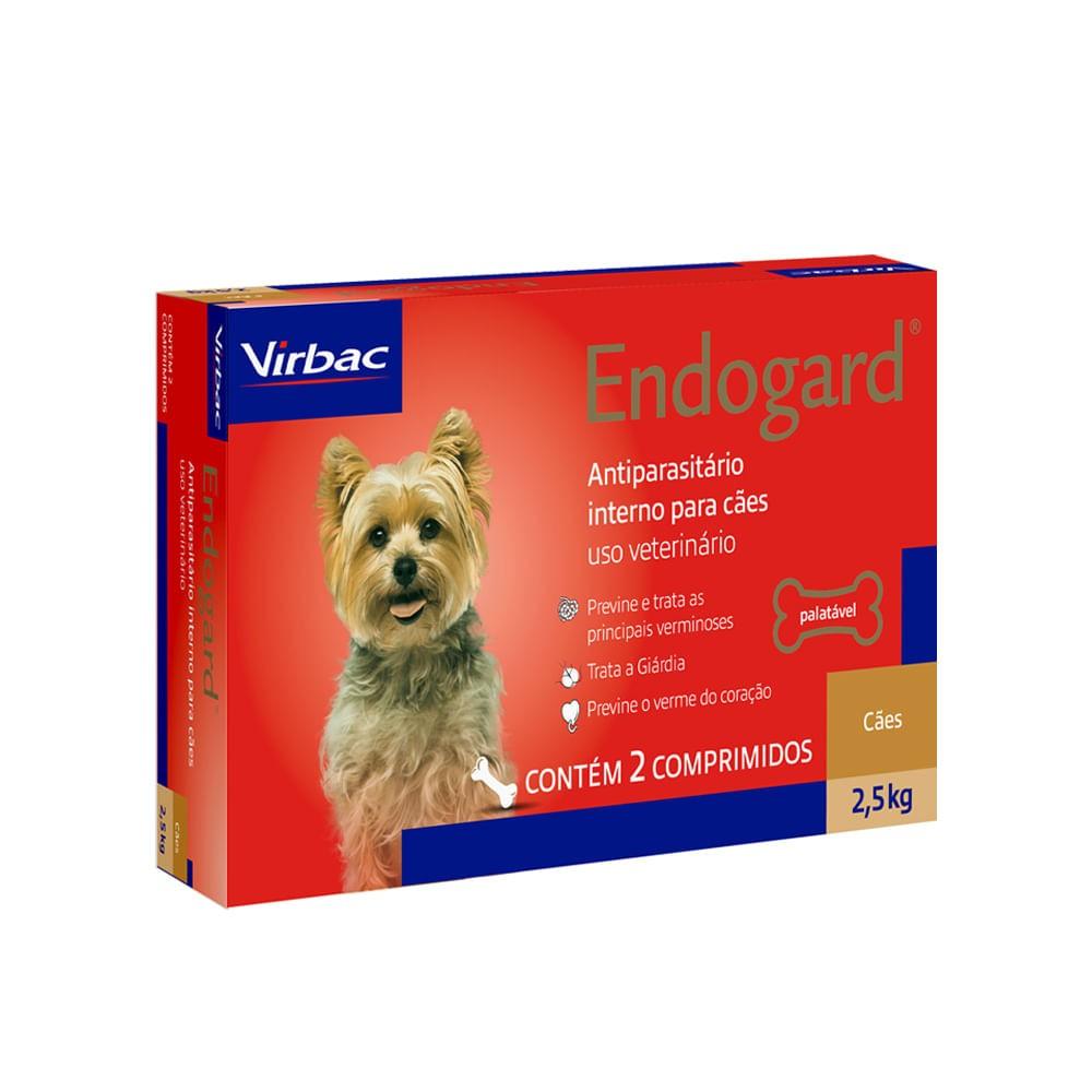 Vermifugo Endogard 2,5kg c/ 2 comprimidos