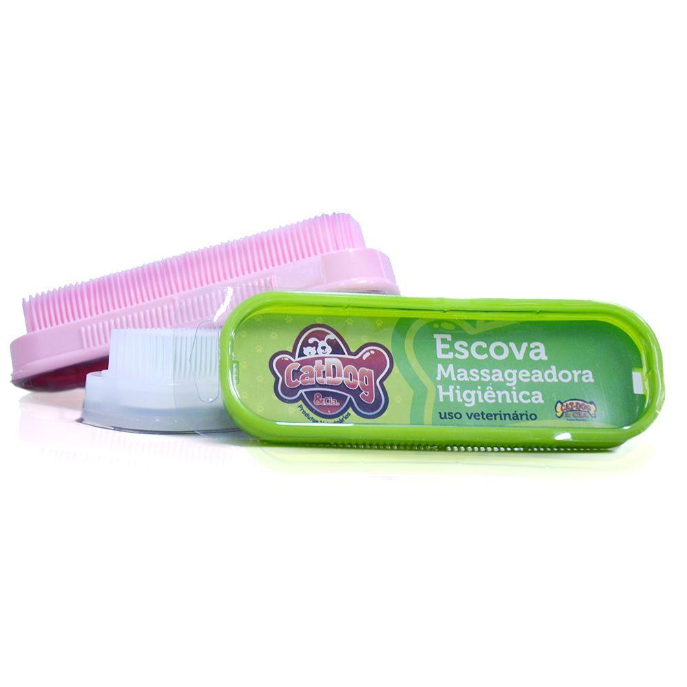 Escova Massageadora Higiênica Para Banho para Cachorro e Gato