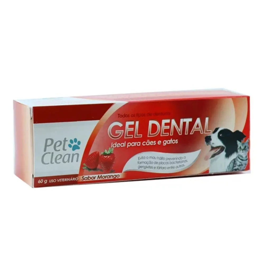 Gel Dental Pet Clean Morango 60g