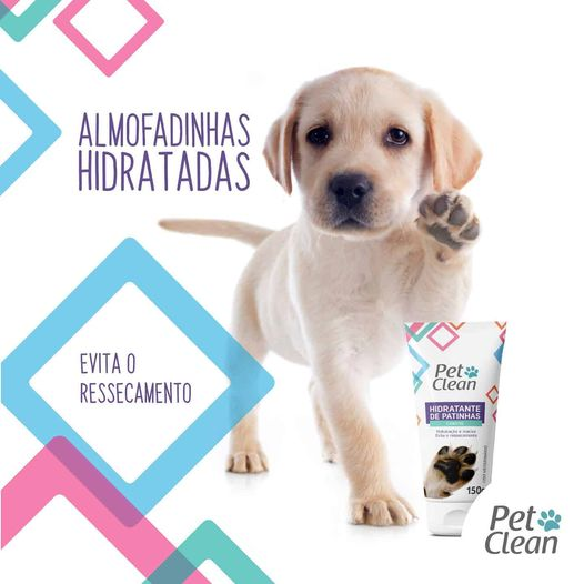 Hidratante para patas para Cachorro e Gato Pet Clean