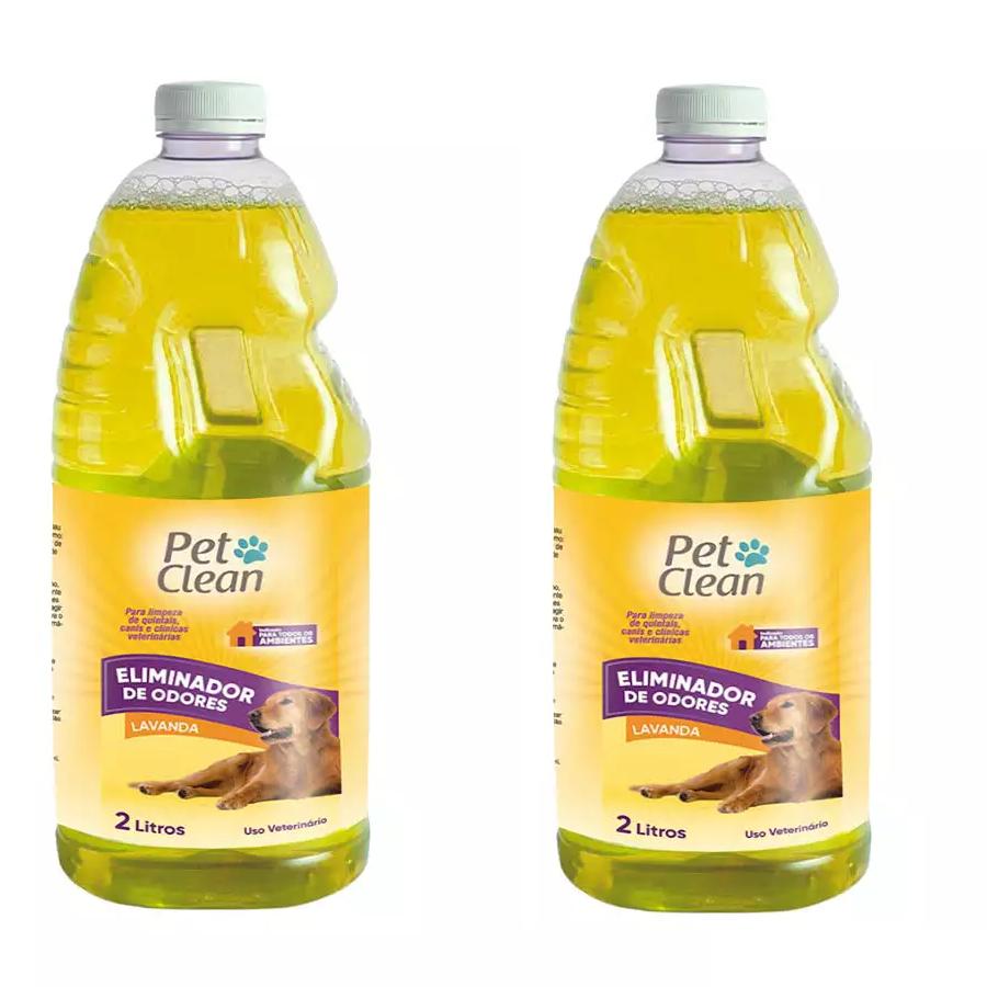 Kit com 2 Eliminador de Odores Pet Clean 2L