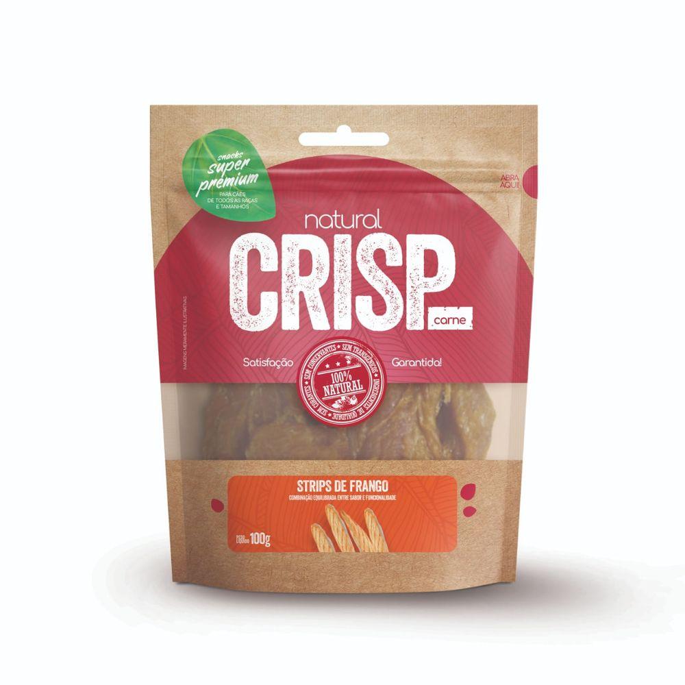 Snack Natural Crisp Frango para Cães 100g