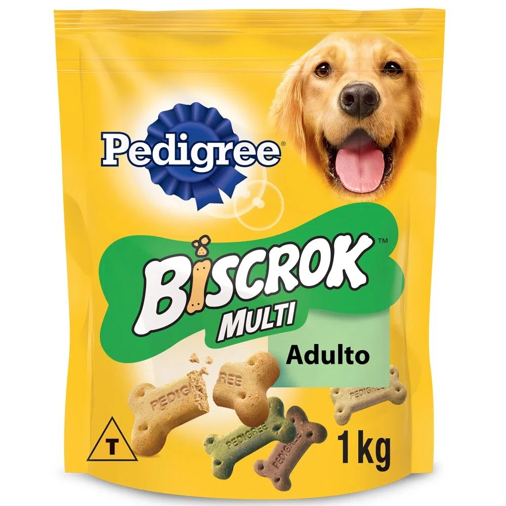 Biscrok Pedigree Raças Média e Grande Adulto 1 kg
