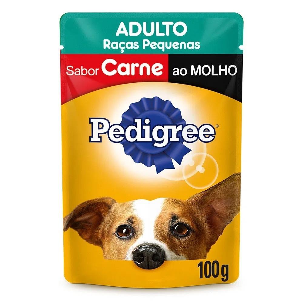 Ração Úmida Pedigree Carne Raças Pequenas Adulto 100g